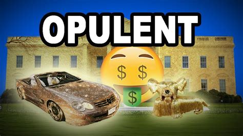 Learn English Words Opulent  Meaning, Vocabulary With