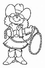 Cowgirl Coloring Pages sketch template