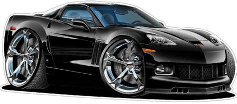 Chevy Corvette Grand Sport Cartoon Car Wall Decal Graphics