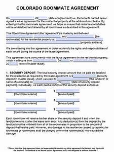 free colorado roommate agreement template pdf word With colorado lease agreement word document