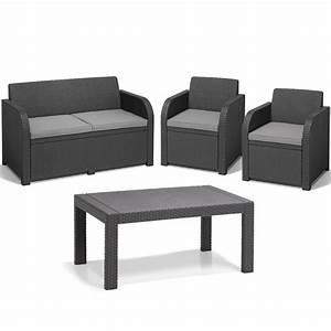 Polyrattan Lounge Set Grau : poly rattan gartenm bel lounge set rattanoptik sitzgruppe grau druckguss ebay ~ Indierocktalk.com Haus und Dekorationen