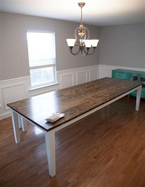 solid wood farmhouse table farmhouse table 10 39 extra wide solid wood farmhouse table