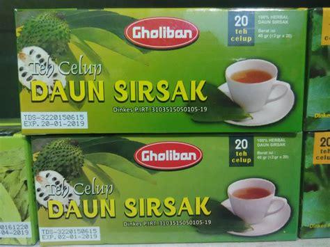 jual beli teh celup daun sirsak baru ramuan herbal