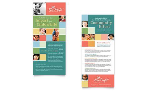 profit association  children rack card template