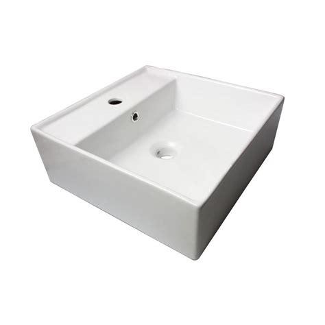 white vanity top for vessel sink sauberzen vitreous china vanity top vessel sink in