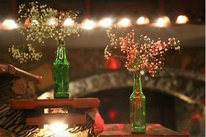 Photo, Of, Green, Bottles, As, Floral, Vase, With, Fairy, Lights, Decor