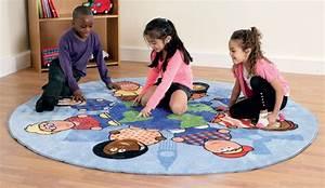 Tapis Jeu Enfant : tapis rond enfants du monde kit for kids tapis de jeux sur planet eveil ~ Teatrodelosmanantiales.com Idées de Décoration