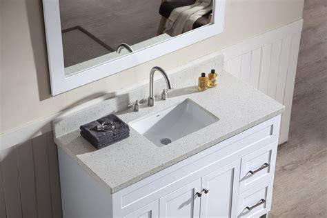 ariel hamlet 49 quot single sink vanity set with white quartz