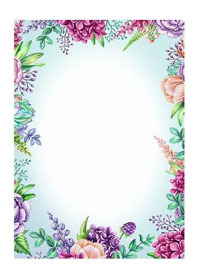 Background Floral Poster Watercolor Vertical Wild Illustration