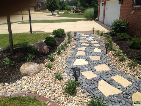 flagstone landscaping ideas flagstone walkway with mexican beach pebbles breck outdoor services and landscaping bring