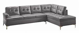 Homelegance 2 piece tufted accent sectional sofa home for 2 pieces sectional sofa