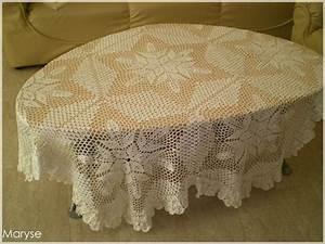 Set De Table Au Crochet : tricoter une nappe de table ~ Melissatoandfro.com Idées de Décoration
