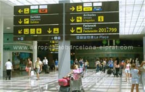 terminal  barcelona airport check  airlines luggage
