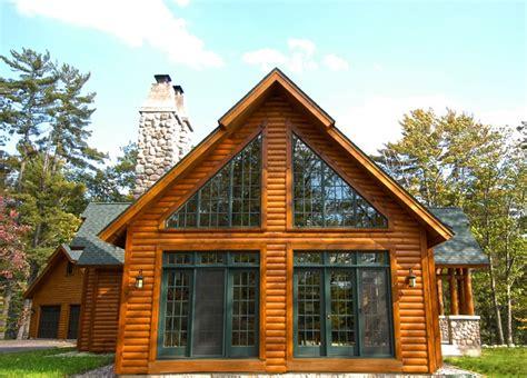 Chalet Style Hybrid Log Home