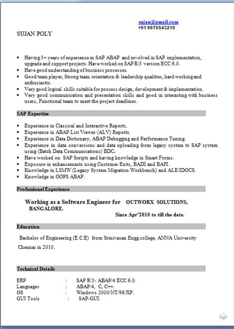 100 simple resume sle format 28 resume for marrige
