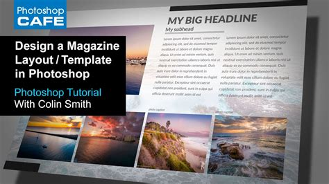 create  magazine layout template  photoshop tutorial