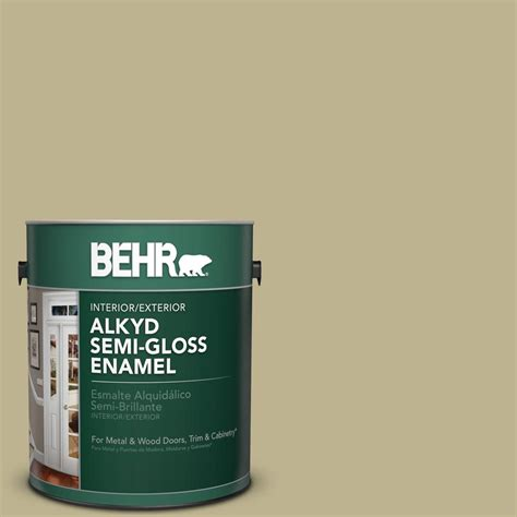 behr 1 gal ppu9 10 wasabi powder gloss enamel alkyd interior exterior paint 393001 the