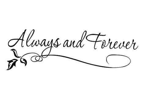 Always And Forever always and forever wedding house vinyl diy wall