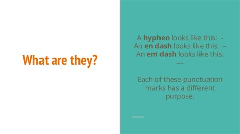 How To Use Hyphens And Dashes