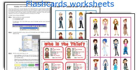 Flashcards Worksheets