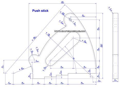 push stick template push stick and push block plans