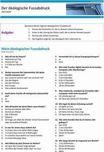 ökologischer Fußabdruck Berechnen : der kologische fussabdruck arbeitsblatt pdf ~ Themetempest.com Abrechnung