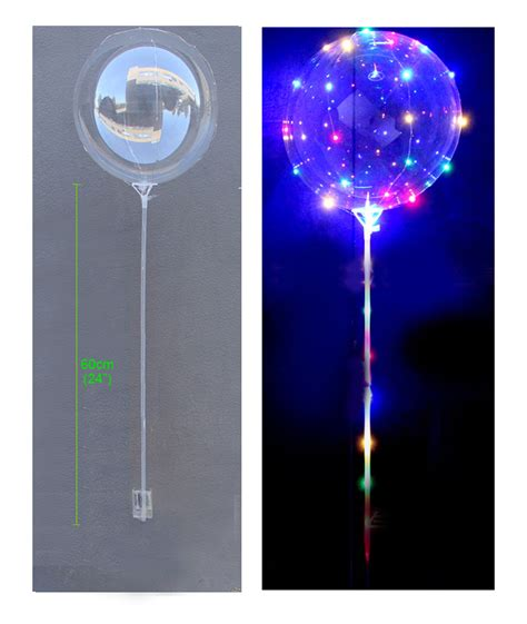 light up balloons glow in the led clear foil balloon bobo