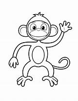 Monkey Coloring Pages Printable Preschoolers sketch template
