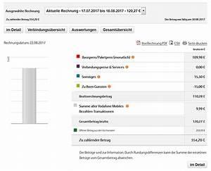 Vodafone Rechnung Email : mobilfunk rechnung pr fen verstehen ~ Themetempest.com Abrechnung