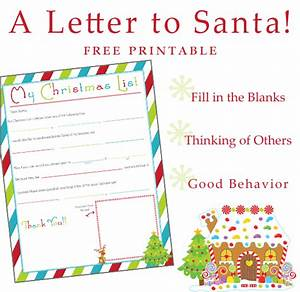 writing a letter to santa free printable one With have santa write your child letter