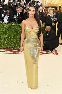Kim Kardashian West Met Gala 2018 Wears Gold Versace