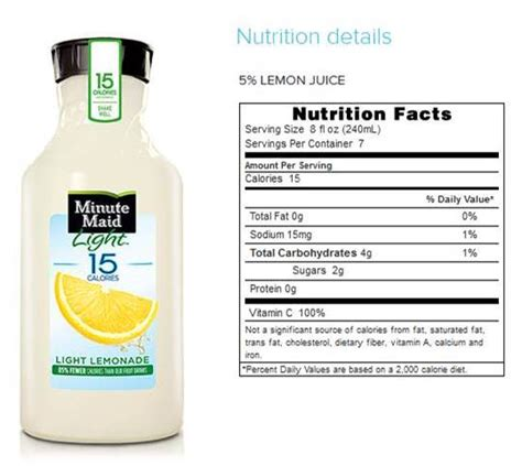 minute maid light lemonade nutrition facts minute maid lemonade light nutrition facts nutrition ftempo