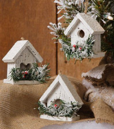 snowy village mini birdhouse set birdhouses