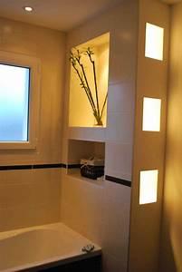 awesome decoration niche salle de bain gallery With salle de bain design avec décorations de noel 2017
