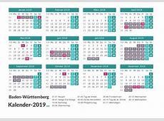 FERIEN BadenWürttemberg 2019 Ferienkalender & Übersicht