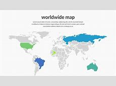 Editable Map of The World