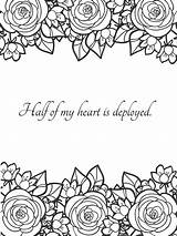 Coloring Husband Wife Notes Soldier Military sketch template