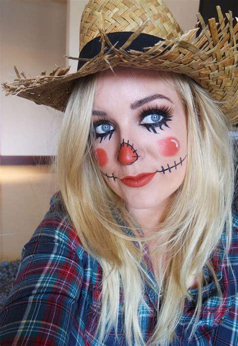 scarecrow halloween makeup  ideas  modern fashion blog