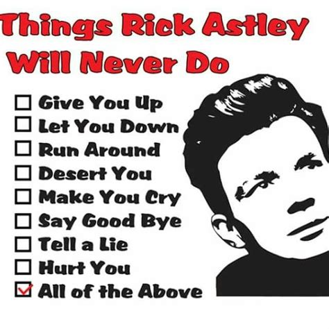 Rick Astley Never Gonna Give You Up Meme - 119 best images about all things rick astley on pinterest music lyrics art songs and bad