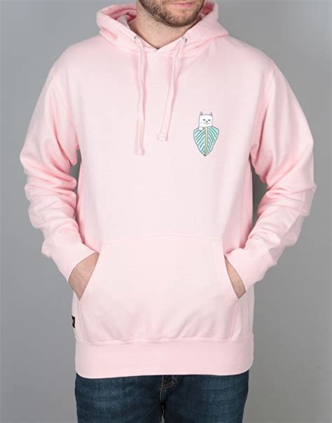 light pink pullover hoodie ripndip frida nermal pullover hoodie light pink skate
