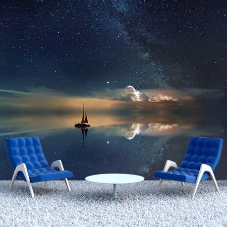 Фотообої Човник та зоряне небо купити на стіну • Еко Шпалери