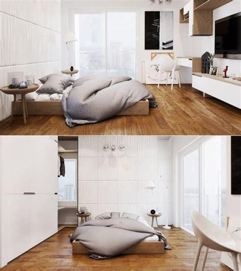 chambre blanche et bois idee deco chambre blanche bois