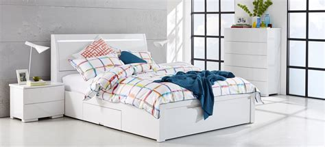 White Bedroom Suites Uk by Chicago White Gloss Bedroom Furniture Suite With Multi