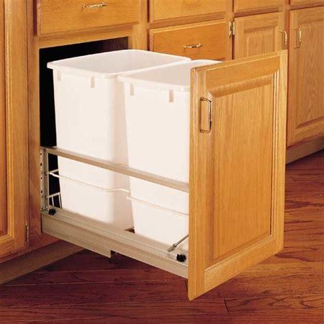 Rev A Shelf Double Trash Pullout 35 Quart White 5349 18DM