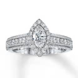 marquise engagement rings jared engagement ring 1 ct tw marquise 14k white gold