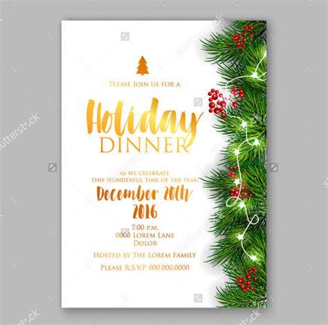 holiday dinner invitation psd ai  premium