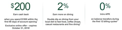 Luckily for people who don't live in a state where this card is available, there are. TD Cash Visa Credit Card Review - $200 Bonus, 2% Cash Back on Dining