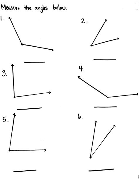 Measuring Angles Worksheet Worksheets For All  Download And Share Worksheets  Free On