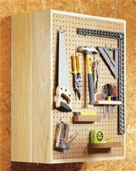 build  pegboard storage cabinet hand tools