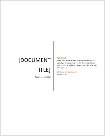cover pages  essay templates ms word cover page